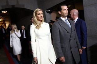 US Presidential Inauguration: Ivanka Trump con Donald Trump jr all'arrivo a Capital Hill per l'Inagurazione presidenziale