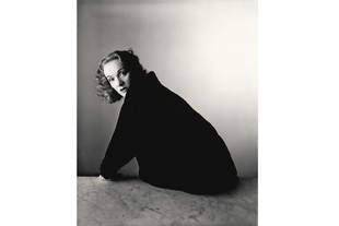 Irving Penn (American, 1917–2009) Marlene Dietrich, New York, 1948 Gelatin silver print, 2000 10 × 8 1/8 in. (25.4 × 20.6 cm) The Metropolitan Museum of Art, New York, Promised Gift of The Irving Penn Foundation © The Irving Penn Foundation