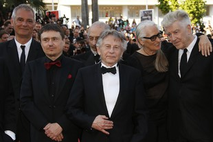 70th Anniversary Ceremony - 70th Cannes Film Festival French director Larent Cantet, Romanian director Cristian Mungiu, Polish-French director Roman Polanski, Australian director Jane Campion and US director David Lynch