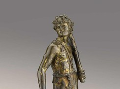 Bertoldo di Giovanni (ca. 1440-1491), Shield Bearer, early 1470s, gilded bronze, The Frick Collection (ANSA)