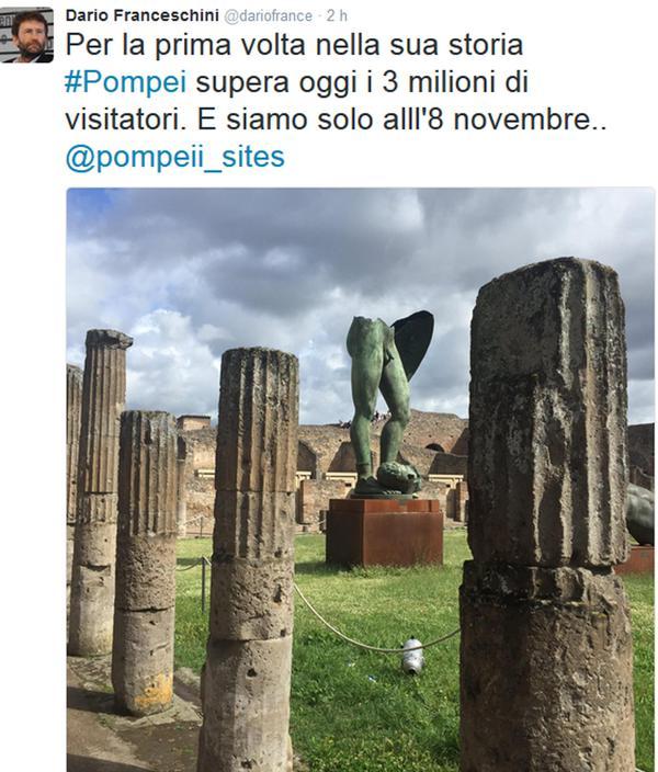 Scavi di Pompei, record di visitatori: oltre 3 milioni nel 2016