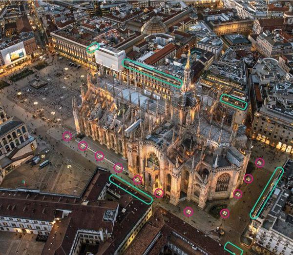 Entro 2018 Duomo Milano tutto illuminato