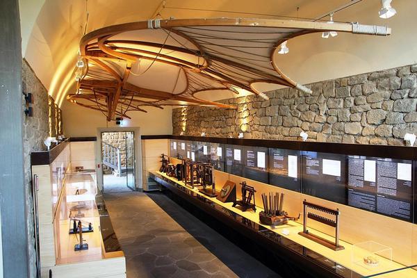 Borghi: interno del museo leonardiano a Vinci © ANSA