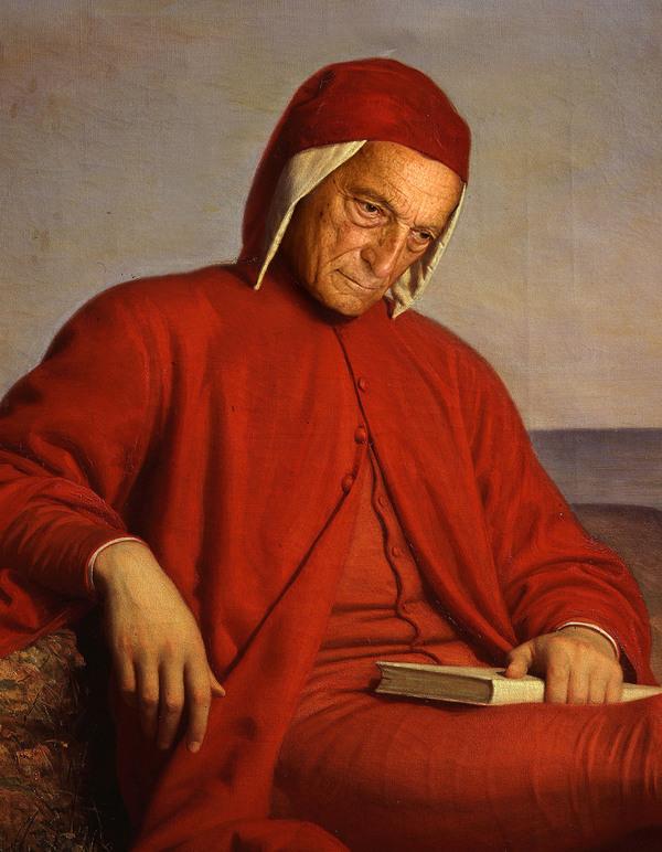 DANTE ALIGHIERI , in un'opera di Domenico Peterlini (1822-1891) dall'archivio di Palazzo Pitti - © ANSA