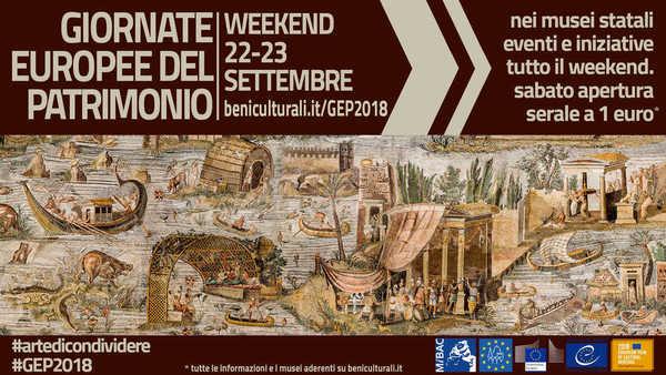 Tornano le Giornate Europee del Patrimonio organizzate del Ministero per i  Beni e le Attività culturali con oltre 1.200 iniziative nei musei di tutta  Italia ... 39648913026c