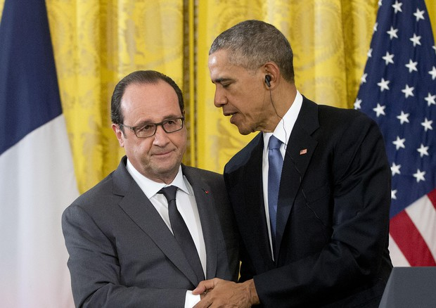 Obama e Hollande © AP
