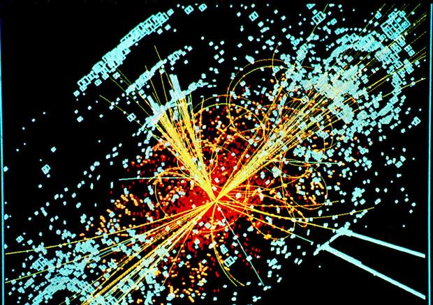 Rappresentazione grafica delle collisioni che hanno portato alla scoperta del bosone di Higgs (fonte: Lucas Taylor/CERN) © Ansa