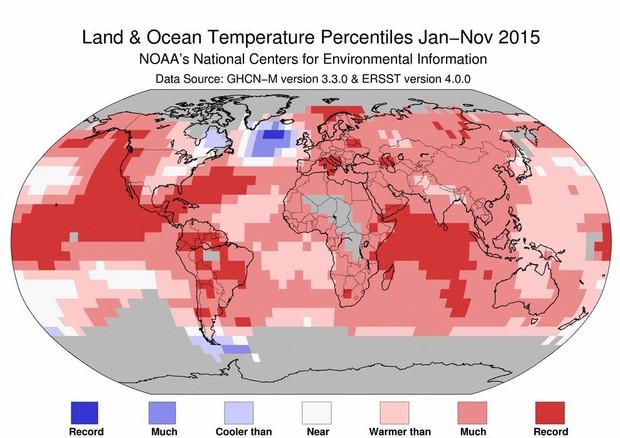 Meteo, 2016 da record: sarà l'anno più caldo dal 1880