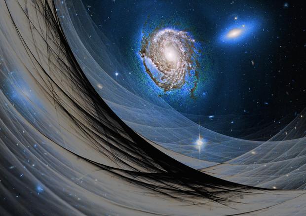 Rappresentazione artistica dell'energia oscura (fonte: Maxwell Hamilton) © Ansa