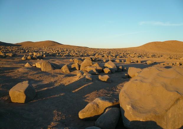 Il deserto di Atacama, uno dei luoghi più aridi della Terra e più simili a Marte (fonte: Imagen de Chile/Azua) © Ansa