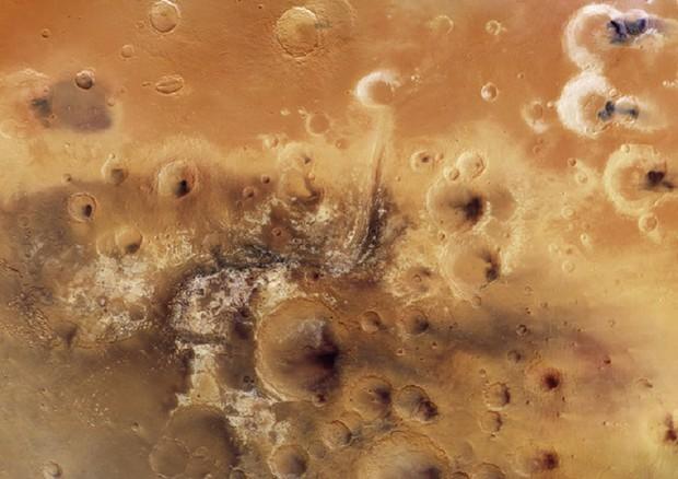Mosaico di immagini della Mawrth Vallis (fonte: ESA/DLR/FU Berlin, CC BY-SA 3.0 IGO) © Ansa