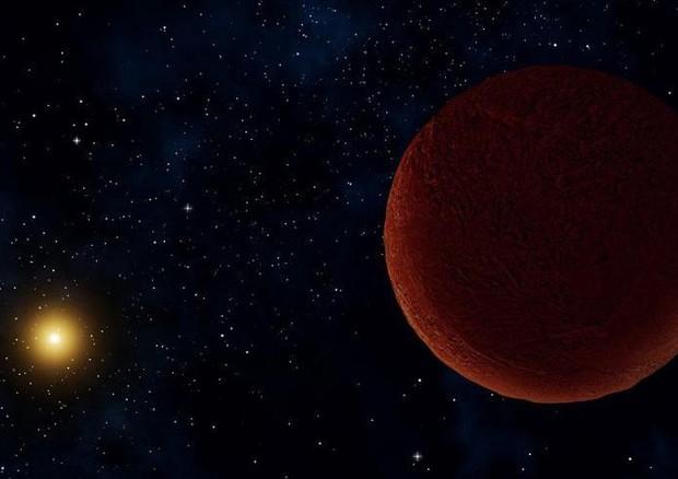 Rappresentazione artistica del pianeta nano Dee Dee, ai confini del Sistema Solare (fonte: Alexandra Angelich (NRAO/AUI/NSF) © ANSA