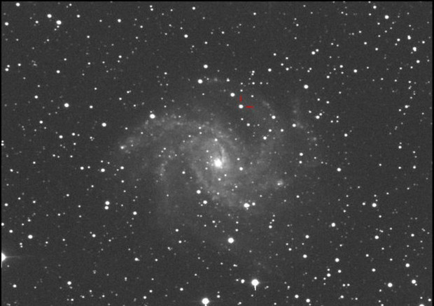 La supernova SN 2017eaw fotgrafata dall'astrofisico Gianluca Masi (fonte: Gianluca Masi, The Virtual Telescope Project) © Ansa