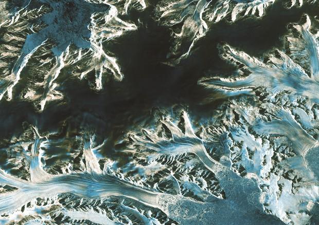 I ghiacci della Penisola Antartica fotografati dal satellite Sentinel 1-A, dell'Esa (fonte: ESA) © Ansa