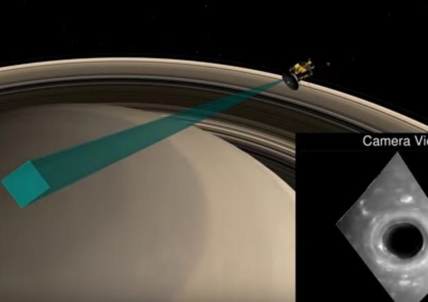 In picchiata su Saturno con il video della sonda Cassini (fonte: Nasa Jpl) © Ansa