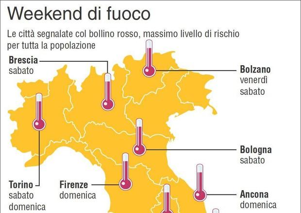 Il caldo morde, dieci città da bollino rosso nel week end © ANSA
