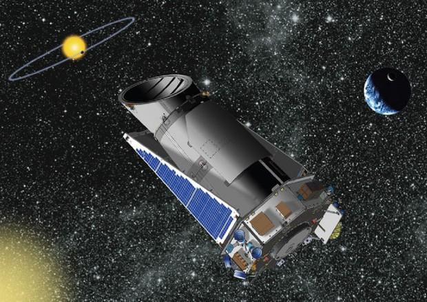 Rappresentazione artistica del telescopio Kepler della Nasa (fonte: Nasa) © Ansa