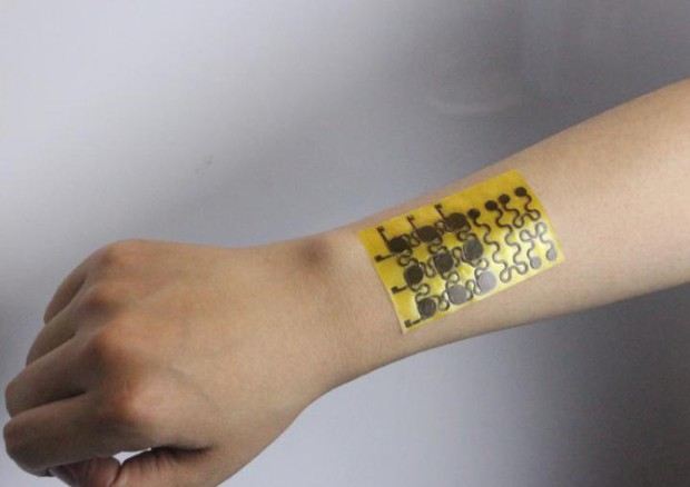 Un esempio della pelle elettronica riciclabile e che si auto-ripara (fonte: Jianliang Xiao / University of Colorado Boulder) © Ansa