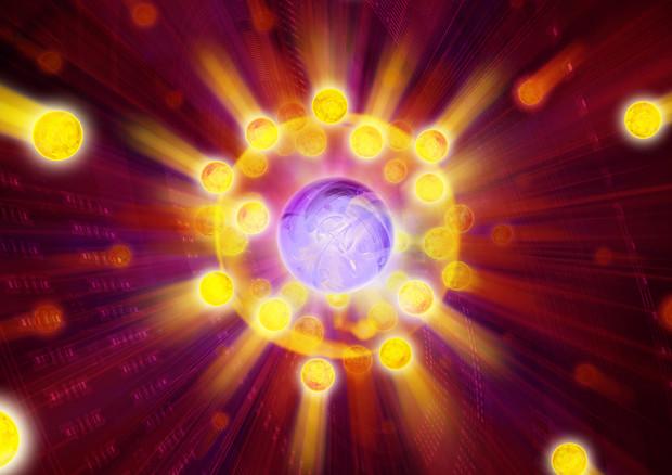 Rappresentazione artistica di una quasiparticella (fonte: IQOQI/Harald Ritsch) © Ansa