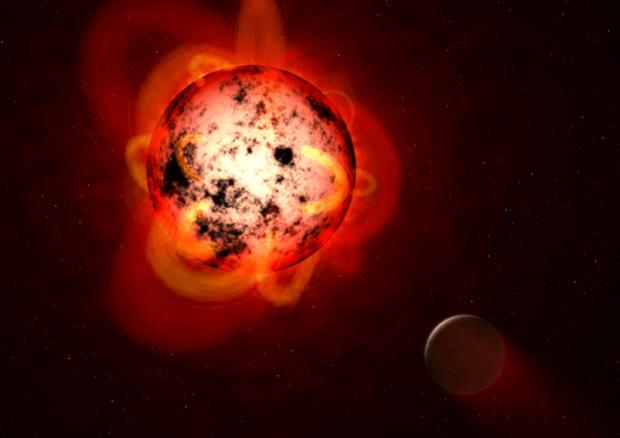 Un'eruzione gigantesca avvenuta sulla stella Proxima Centauri ha sconvolto Proxima b (fonte: NASA, ESA, & G. Bacon/STScI) © Ansa