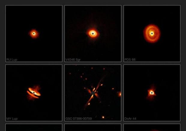 Scoperte 9 'fabbriche' di pianeti distanti 230 anni luce (fonte: ESO/H. Avenhaus et al./E. Sissa et al./DARTT-S and SHINE collaborations) © Ansa