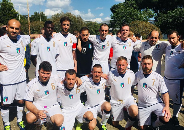 La nazionale di calcio italiana per la Dream World Cup © ANSA