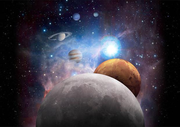 Rappresentazione grafica del Sistema Solare (fonte: NASA) © Ansa