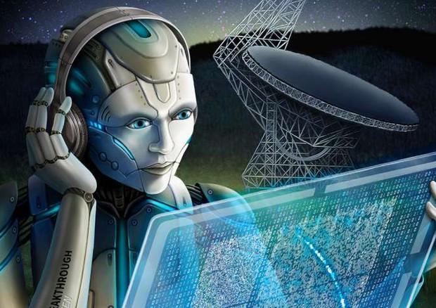 L'intelligenza artificiale in ascolto dei segnali prodotti dall'universo violento in cerca di quelli che potrebbero avere un'origine artificiale (fonte: Breakthrough Listen image) © Ansa