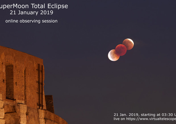 Risultati immagini per luna rossa gennaio 2019