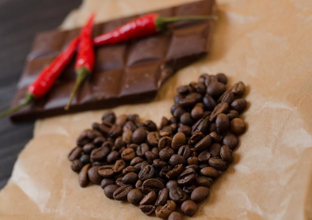 Cardiologia, dieta per la salute del cuore con cioccolato e pasta