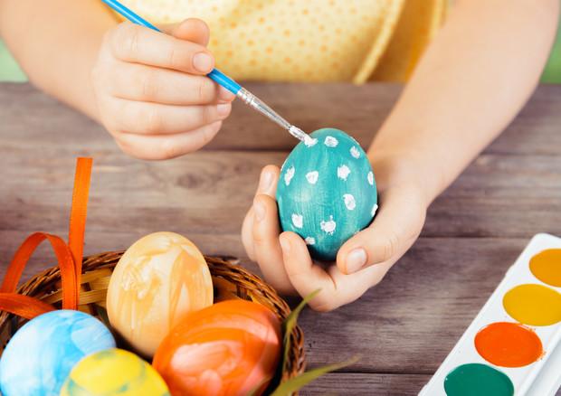 Allenjoy sfondo felice uova di pasqua fiore fata cartone animato