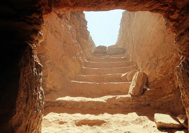 La tomba AGH 26 scoperta ad Assuan in gennaio 2019 dalla missione congiunta dell'Università degli Studi di Milano e del Ministero delle Antichità egiziano (fonte: Università Statale di Milano) © Ansa
