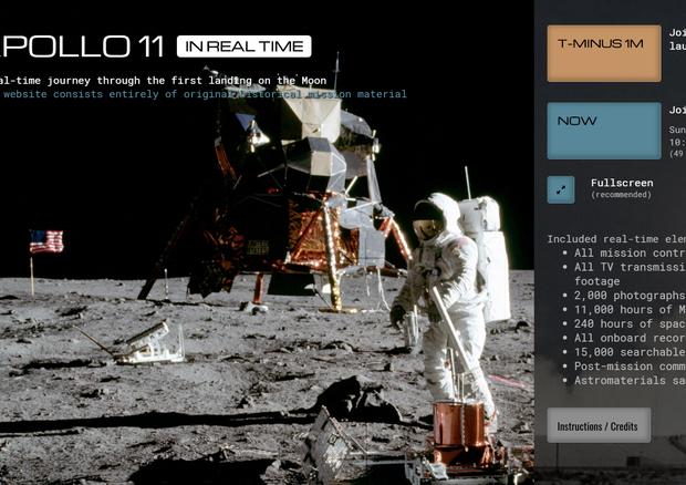 Cinquant'anni fa partiva il viaggio che avrebbe portato l'uomo sulla Luna
