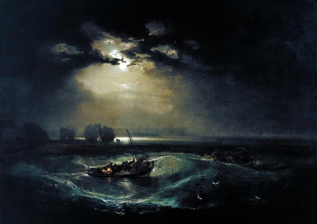 La Luna nell'arte - Pescatori in mare di William Turner © ANSA