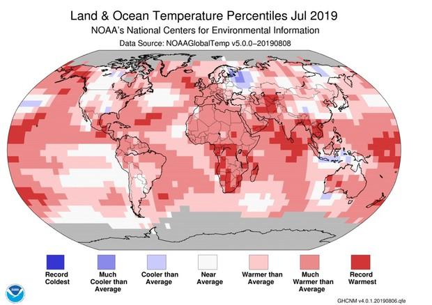 Luglio è stato il mese più caldo di sempre