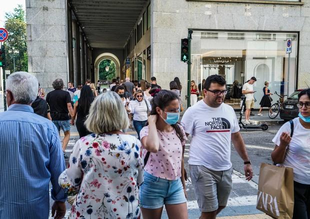 Coronavirus in Italy people walking in Turin