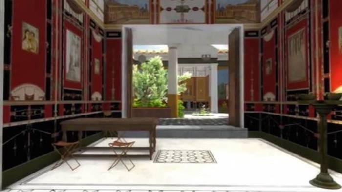 Visita virtuale a una casa dell'antica Pompei
