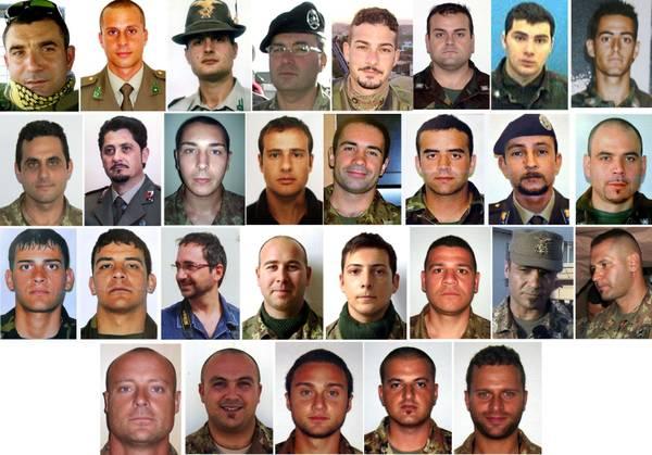 Afghanistan dal 2004 morti 34 militari italiani foto for Numero dei parlamentari italiani