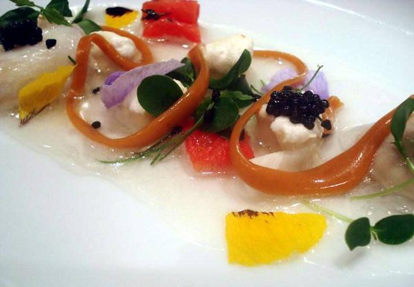 Parma cucina molecolare mantiene il sapore del pesce appena