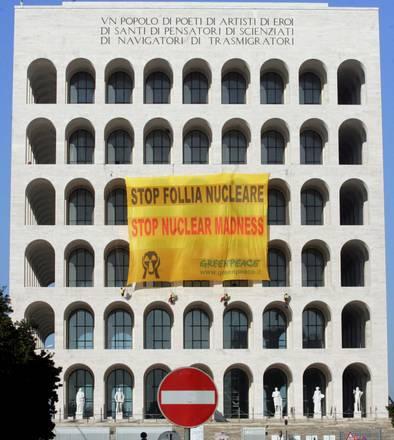 Protesta degli ambientalisti a Roma