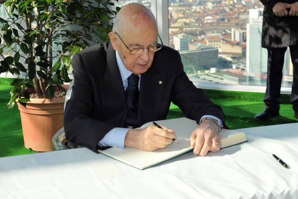 Il presidente della Repubblica Giorgio Napolitano