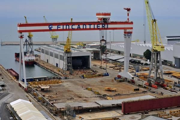 Incendio su nave in costruzione alla fincantieri di ancona for Cantiere di costruzione