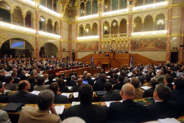Un'immagine del Parlamento ungherese a Budapest.