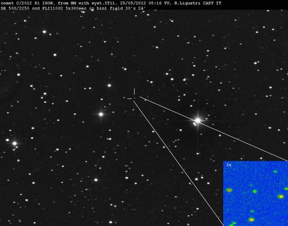 La cometa Icon (fonte: Rolando Ligustri)