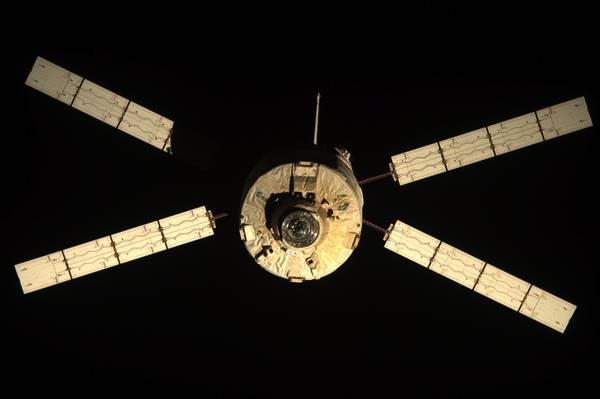 L'Atv Edoardo Amaldi mentre sta lasciando la Stazione Spaziale Internazionale (fonte: Nasa)