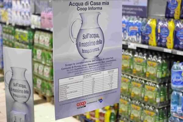 Coop e Federutility lanciano campagna per 'trasparenza' acqua