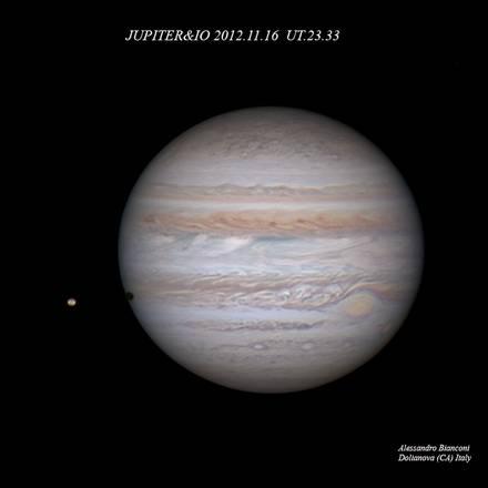 Giove si avvicina progressivamente alla Terra (fonte: Alessandro Bianconi,  Unione Astrofili Italiani e Associazione Astrofili Sardi)