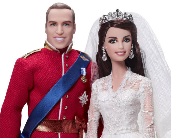 Le bambole della Mattel di William e Kate