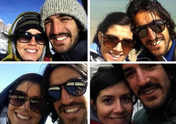 Piermario e la fidanzata Anna (da Twitter)