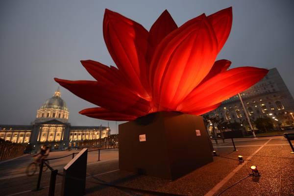 Un'opera di  oltre sette metri , dell'artista sud-coreano Choi Jeong, e' stata installata davanti al municipio di San Francisco
